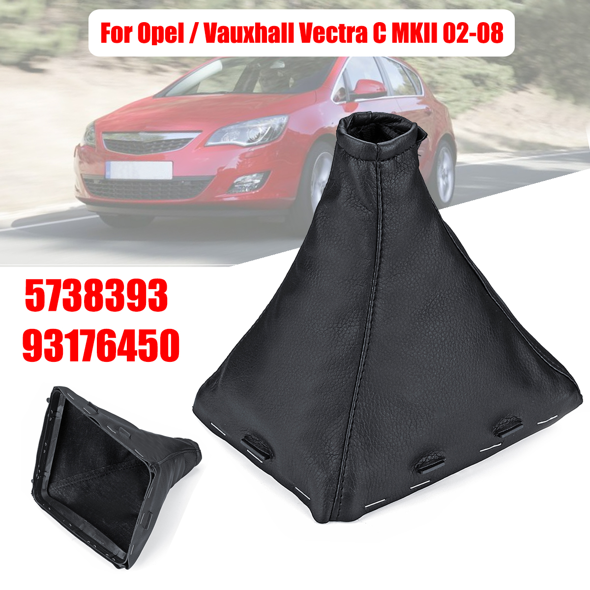 VAUXHALL OPEL VECTRA C SIGNUM 02-08 GEAR GAITER QUALITY LEATHER WHITE ST COVER