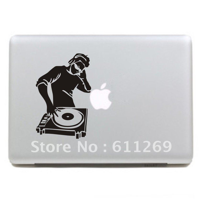FreeShippingDJVinylDecalProtectiveLaptopSticker ForAppleMacBookAirProHumorskinArtjpg - Vinyl stickers for laptops