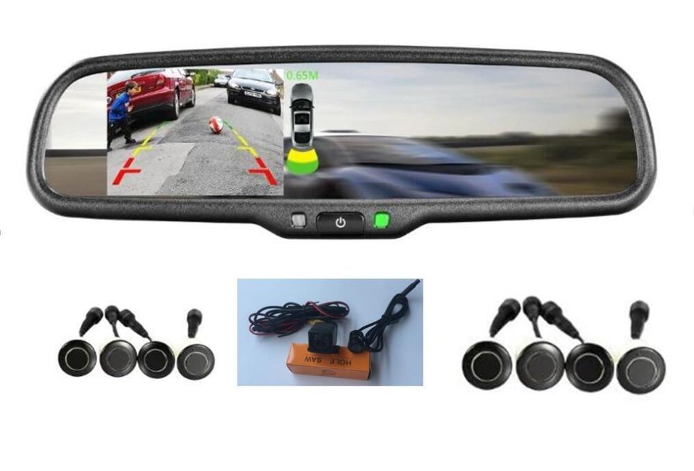 Пульт дистанционного управления автомобиля 4,3 заднего вида авто затемнением зеркало оригинальный кронштейн w Двойная камера H D Видимый