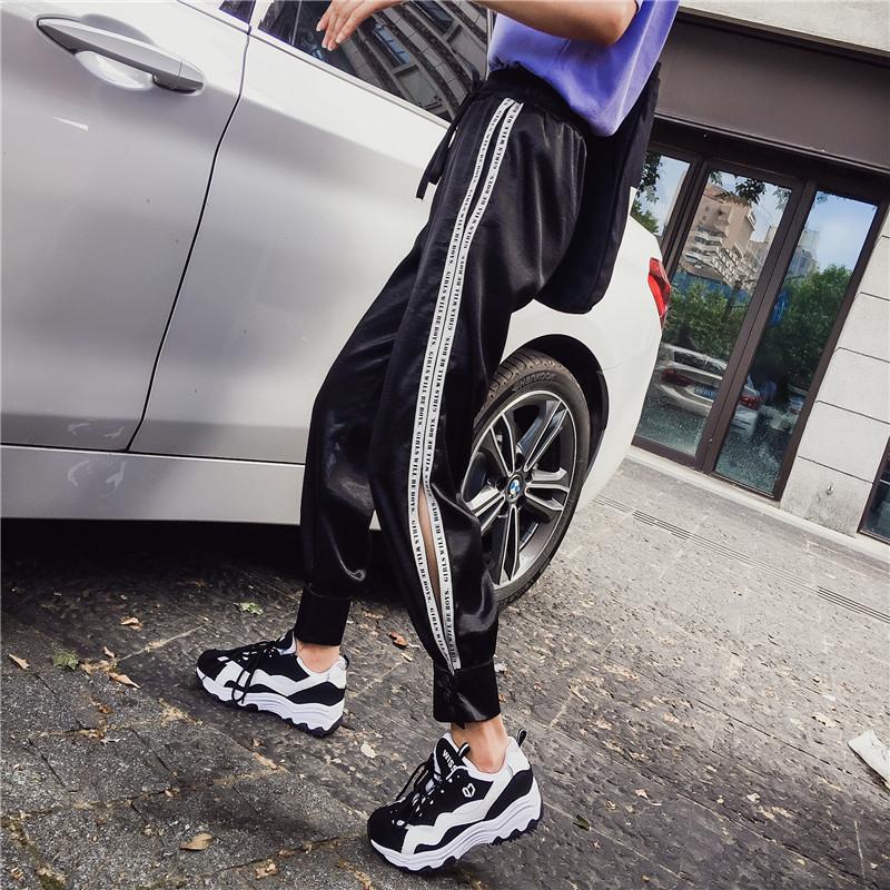 Hiphop purple sweatpants female hip hop Korean version of the tide student loose Dance pants 25