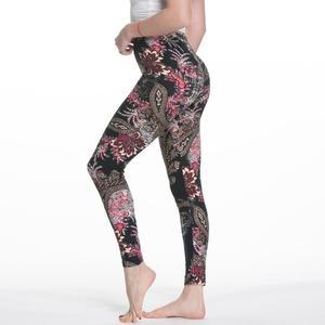 Image 4 - Legginsy damskie wysokiej talii komiks kreskówka spodnie z nadrukiem miękkie kobiece spodnie elastyczne na co dzień