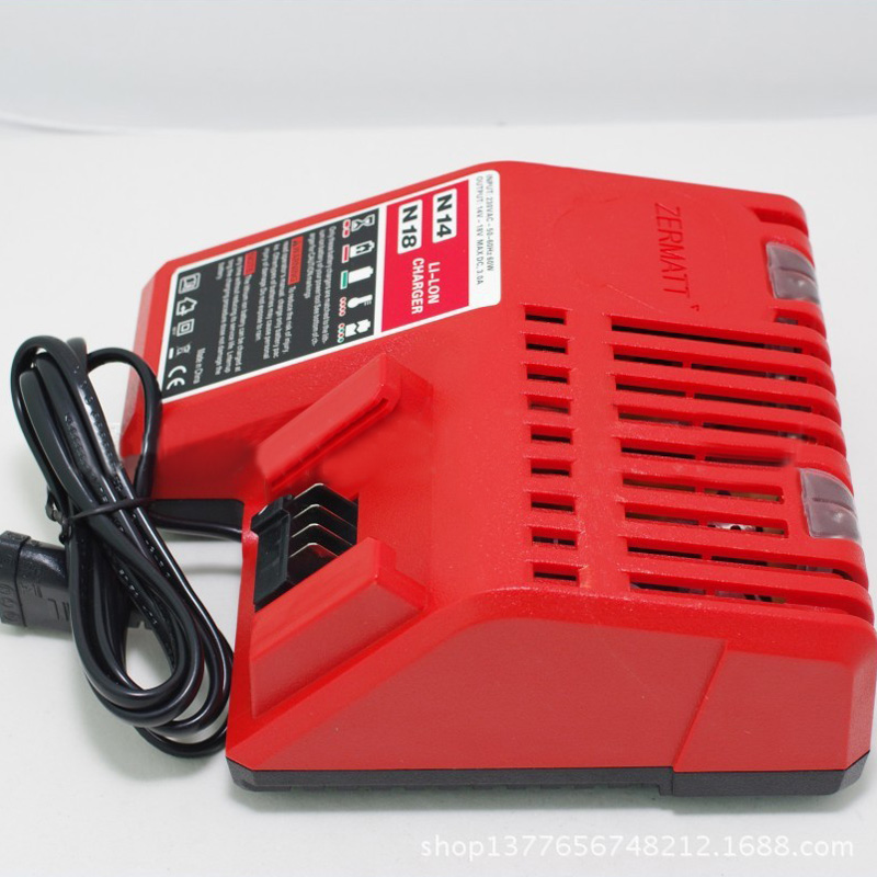 110V Lithium Li-ion Battery Charger Replacement For Milwaukee M18 18V US Plug