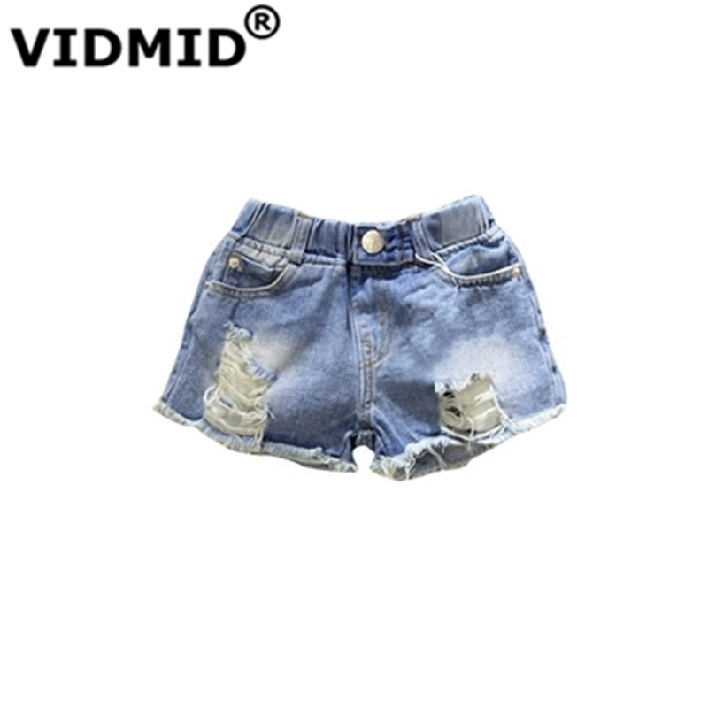 VIDMID Baby Girls Shorts Jeans Summer Casual Cotton Children's Shorts Kids Denim Shorts For Girls Clothes Girls Clothing 2010