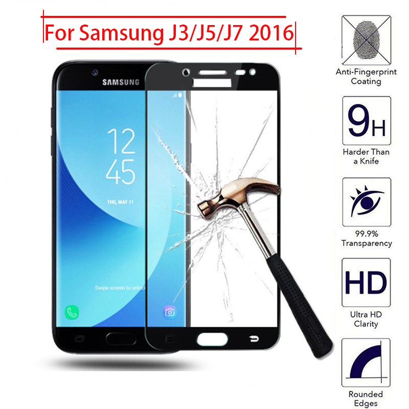 Protective <font><b>Glass</b></font> For <font><b>Samsung</b></font> j5 2016 j3 j7 6 On The Galaxy j <font><b>3</b></font> 5 7 3j 5j 7j Tempered Glas Screen Protector Phone Case Protection image