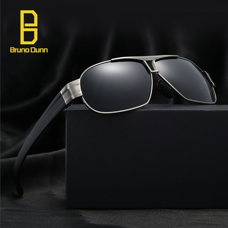 05f2dbfe63 Bruno dunn Polarized Sunglases Men Brand Designer Sun Glases Male With Box  oculo De Sol Masculino