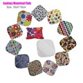 20pcs/lot 18*18cm Winged U Pick Soft Bamboo Washable Reusable Menstrual Sanitary Feminine Cloth Pads Panty Liner for Women