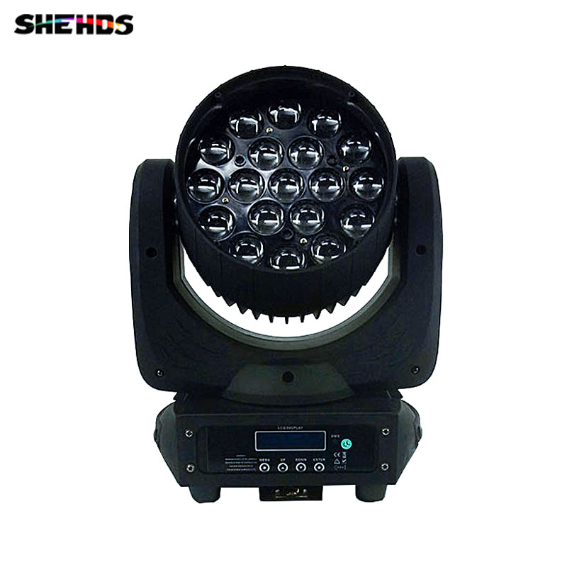 LED Beam+Wash 19x15W RGBW Zoom Lighting for DJ/Bar LED Zoom Beam Moving Head Light Free Shpping,SHEHDS Stage Lighting. цены