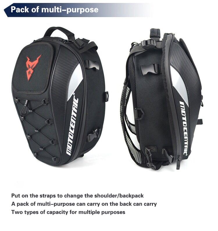 Brand New Waterproof Motorcycle Tail Bag Multifunction Motorcycle Rear Back Seat Bag High Capacity Motorcycle Rider Backpack 4
