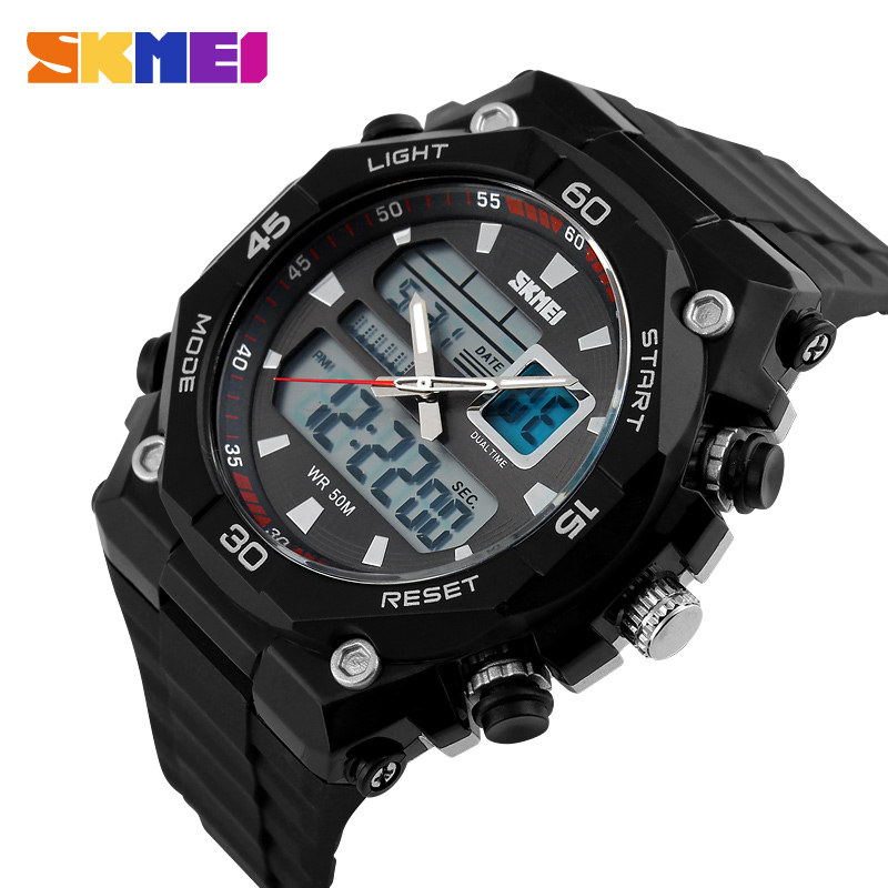 Skmei Top Luxury Brand Men Sports Watches Military Waterproof LED Digital Watch Fashion Quartz Outdoor Wristwatches 1092# Clock skmei men quartz digital dual display sports watches new clock men outdoor military watch fashion student waterproof wristwatch