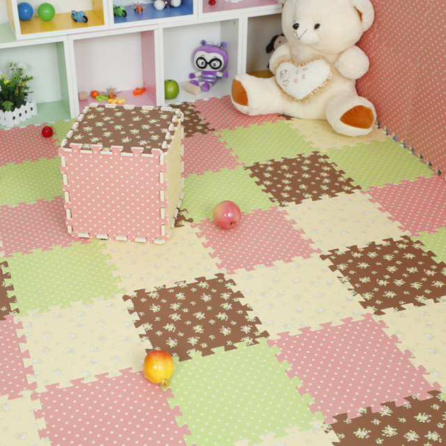 30 30cm 9pcs Patchwork Carpet Baby Play Magic Mats Lovely Ikea