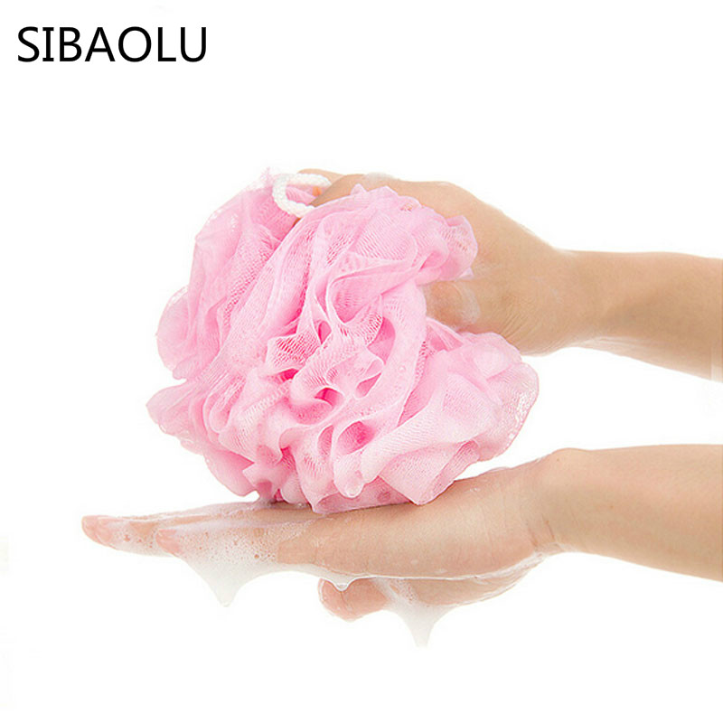SIBAOLU 25g Colorful Nylon Bath Ball Bath Flower Rub Foaming Bubble Bath Shower Body Washing Clean Exfoliate Puff Scrubbing