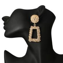 F14 большой Винтаж серьги для женщин золотой цвет геометрический заявление серьги 2018 металла орать висит тенденция ювелирные изделия