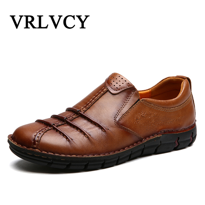 Genuine Leather Casual Shoes Fashion Men Shoes Loafers Comfortable Men Leather Shoes Slip On Moccasins men s casual leather loafers shoes genuine emboss crocodile slip on driving shoes men s penny loafers comfortable moccasins new
