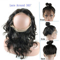 Alipearl 7A Brazilian Virgin Hair 360 Lace Frontal Closure 22.5*4*2 Natural Hair Line Human Hair Frontal Closure With Baby Hair
