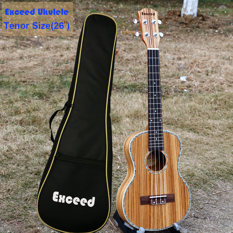 26 Ukulele Acoustic small Guitar Tenor Size Zebra wood 4-strings guitarra ukelele musical instruments(with quality Bag) tenor concert acoustic electric ukulele 23 26 inch travel guitar 4 strings guitarra wood mahogany plug in music instrument
