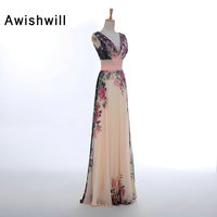 Hot Sale Printed Evening Dress Formal Abiye Uzun Elbise Robes De Soiree Longues Party Gown Prom