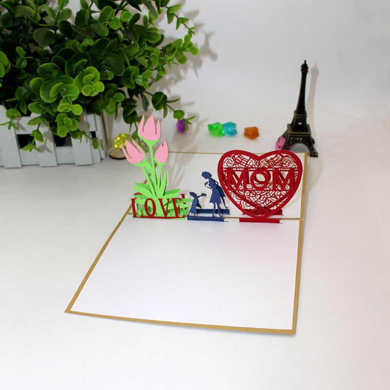 Phenomenal New Design 3D Handmade Kids Show Love Mom Carnations Greeting Birthday Cards Printable Opercafe Filternl