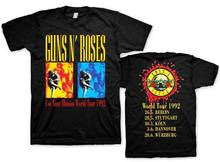 Top Quality T Shirts O Neck O-Neck Men Guns N Roses-Guns Roses Exclusive World Tour 92 Short Sleeve Fashion