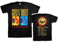 купить Top Quality T Shirts O Neck O-Neck Men Guns N' Roses-Guns N' Roses Exclusive World Tour 92 Short Sleeve Fashion T Shirts по цене 885.13 рублей