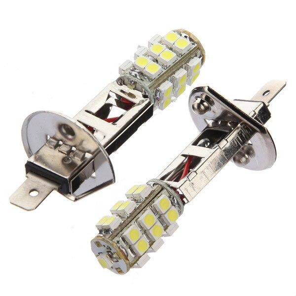 2 шт. H1 ксеноновые Белый 25SMD 12 В DC стайлинга автомобилей светодио дный лампы Противотуманные дальнего головной свет лампы