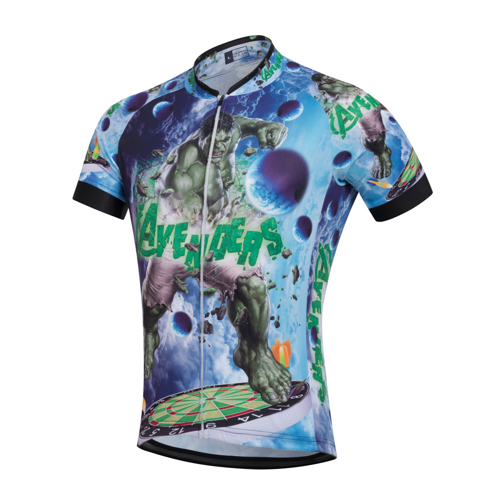 d55a1d870 2017 Cycling Jersey Incredible Hulk Ropa New Bike Racing Cycle Bicycle  Cycling Mtb Breathable Short Sleeves Gel Pad Jersey-in Cycling Sets from  Sports ...