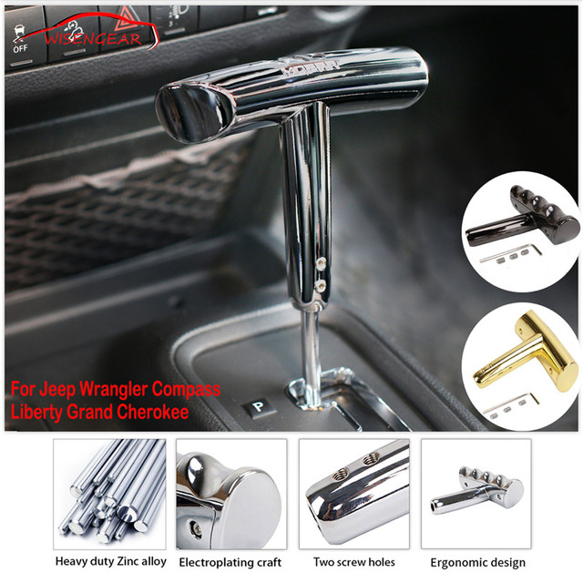 Zinc Alloy T Handle Gear Shift Knob Grab Shifter For Jeep Wrangler