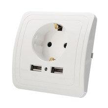 Розетка порт dual панель лучший plug ес разъем зарядное питания устройство