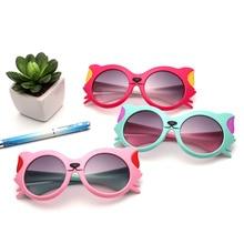 2018 New Girls Boy 8 Colors Cartoon Cat Anti UV400 Eyeglasses Toddler Baby Sunglasses