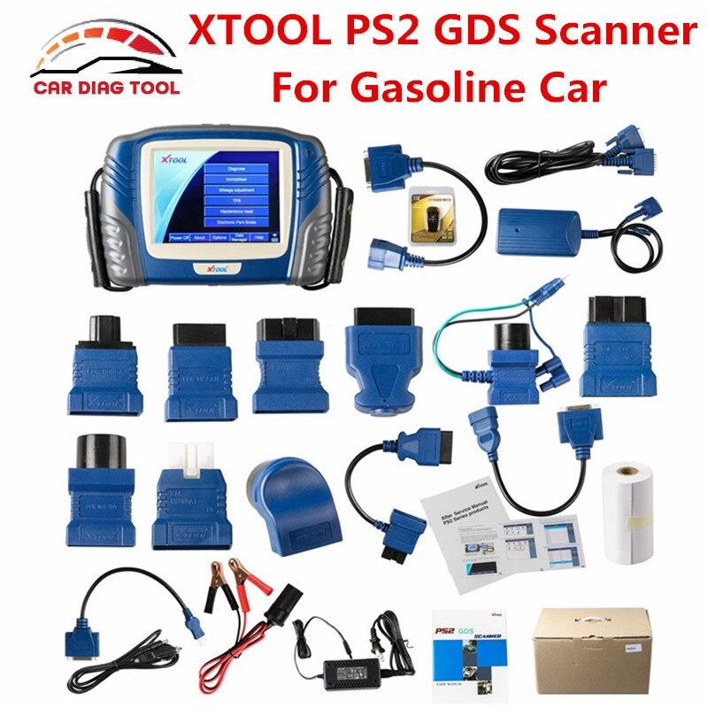 Prix pour 2017 date 100% d'origine xtool ps2 gds essence universel bluetooth de voiture outil de diagnostic mise à jour en ligne sans boîte en plastique