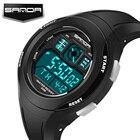 SANDA Luxury Brand Mens Sports Watches Dive 30m Digital LED Military Watch Men Fashion Casual Electronics Wristwatches Clock Man