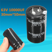 2017 Durable Quality 1Pc 63V 10000UF Capacitor 30mm*50mm Long Life High-frequency Temp Electrolytic Capacitors on Sale