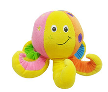 Discount Hot Sale New octopus bell ringing clear baby educational plush toy birthday gift 1pc free shipping(China)