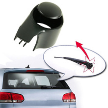 New Black Rear Wiper Washer Arm Blade Cover Cap For VW MK5 Golf Polo Passat Tiguan Touran Caddy Replacement Accessory durable automotive rear windscreen wiper for vw mk5 caddy golf passat touran essuie glace pac auto replacement parts