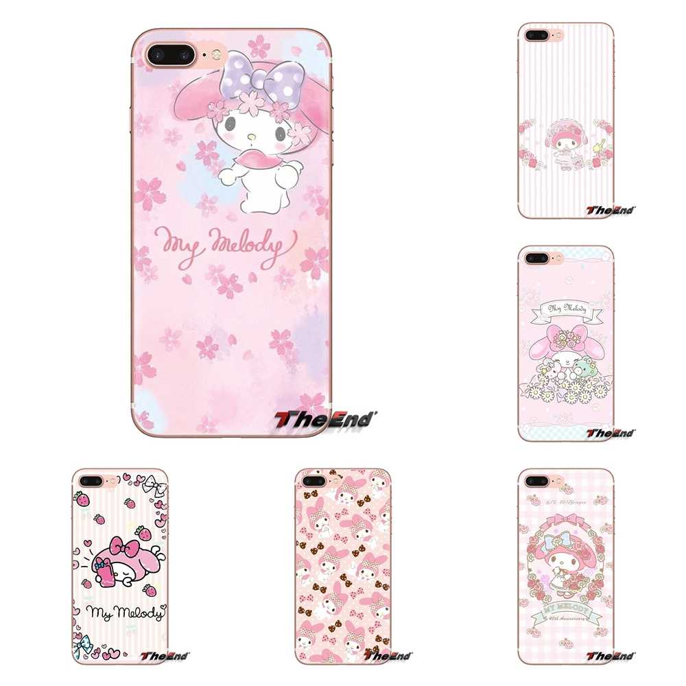 Pink My Melody little twin stars For iPod Touch Apple iPhone 4 4S 5 5S SE 5C 6 6S 7 8 X XR XS Plus MAX Transparent Soft Bag Case