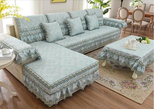 Quality Fashion Jacquard Sofa Towel Modern Fabric Four Seasons Slip Resistant Mat