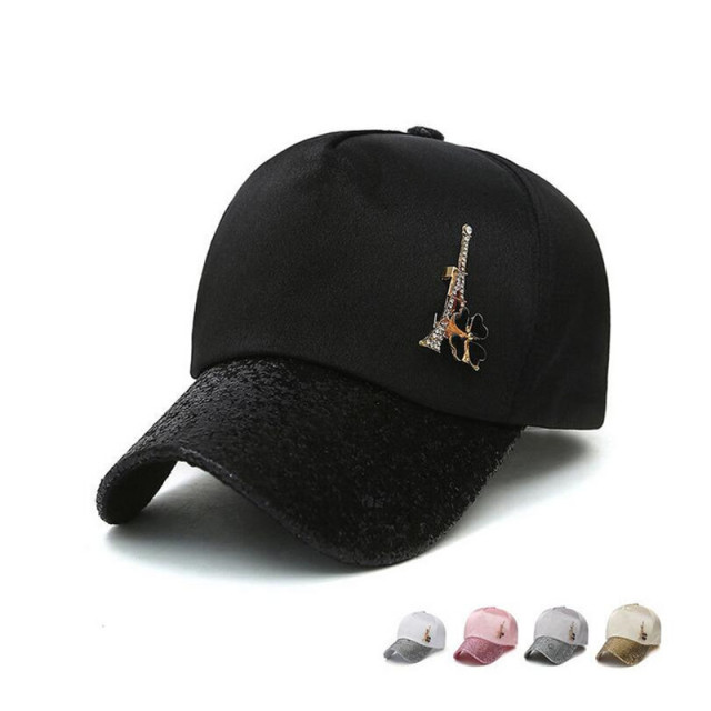 pink sequin baseball cap womens tower caps women hats summer cool adjustable rhinestones gold hat