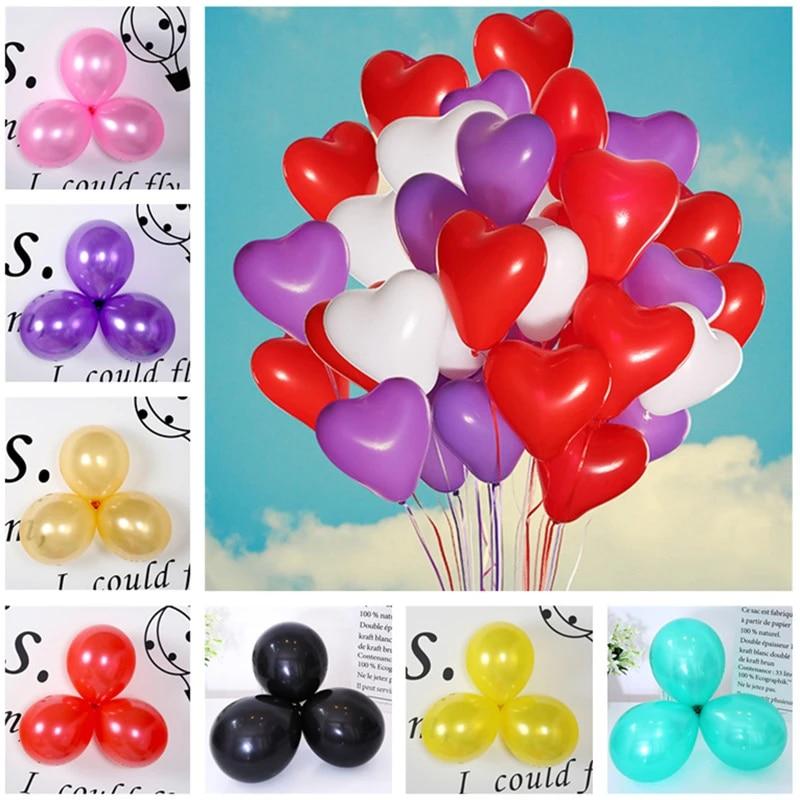5pcs Latex Balloons 1st Birthday Decorations Home Decoration Accessories Heart Balloon 50 Birthday Party Decoration Kid Baby Boy Ballons Accessories Aliexpress