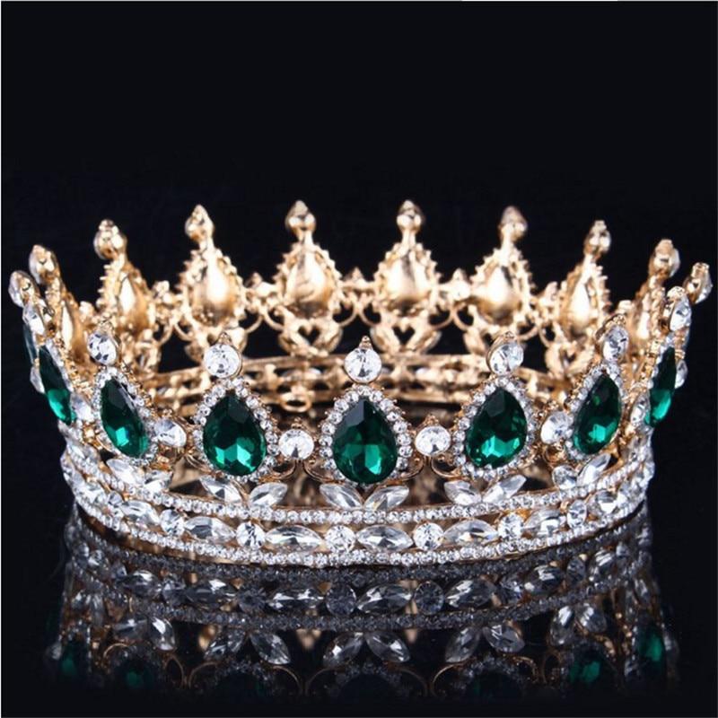 Vintage Barok Kraliçası Gəlin Tiara Crown Qadınlar Üçün - Moda zərgərlik - Fotoqrafiya 3