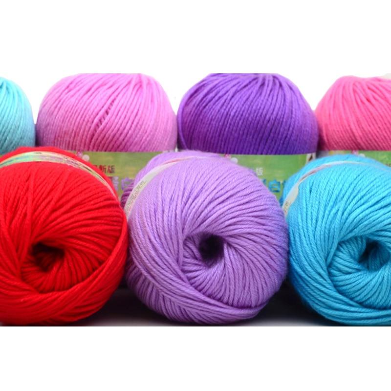 Wholesale 50g/ball Cheap Sale Soft Worsted Silk Velvet Baby Wool Cashmere Yarn Knitting Crochet Yarn Hand Knitting Thread JK477