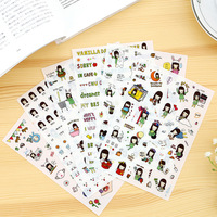 6 Sheet 1 Set Stationary Sticker Diary Planner Stickers Kawaii Girls Deco Scrapbooking Sticker Albums PhotoTag