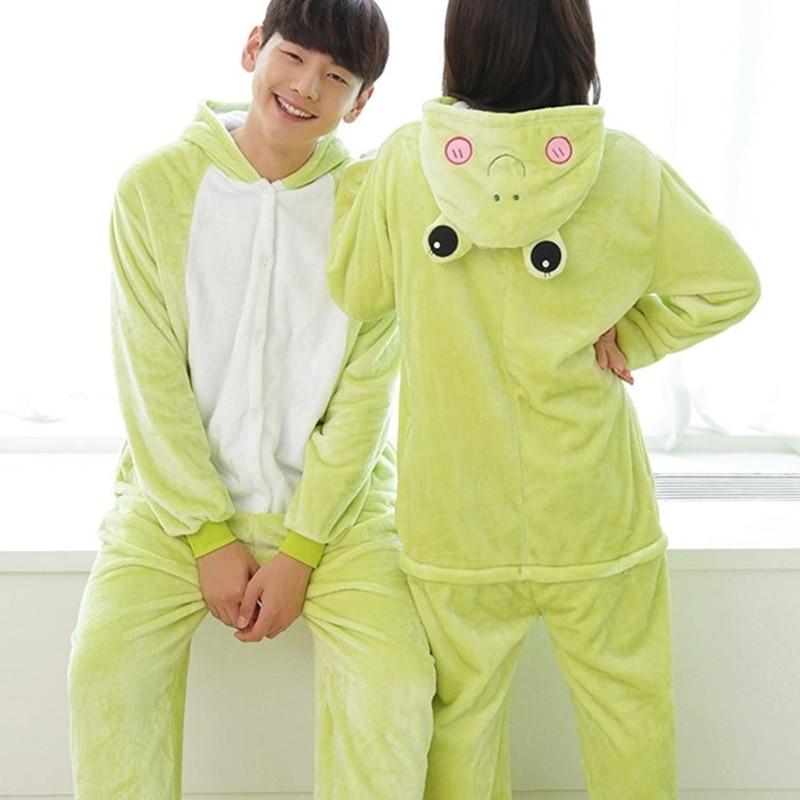 New Arrival Onesie Flannel Pajama Sets Adult Unisex Cosplay Costume Frog Animal Pajamas Onesies For Adults PajamaS Suit