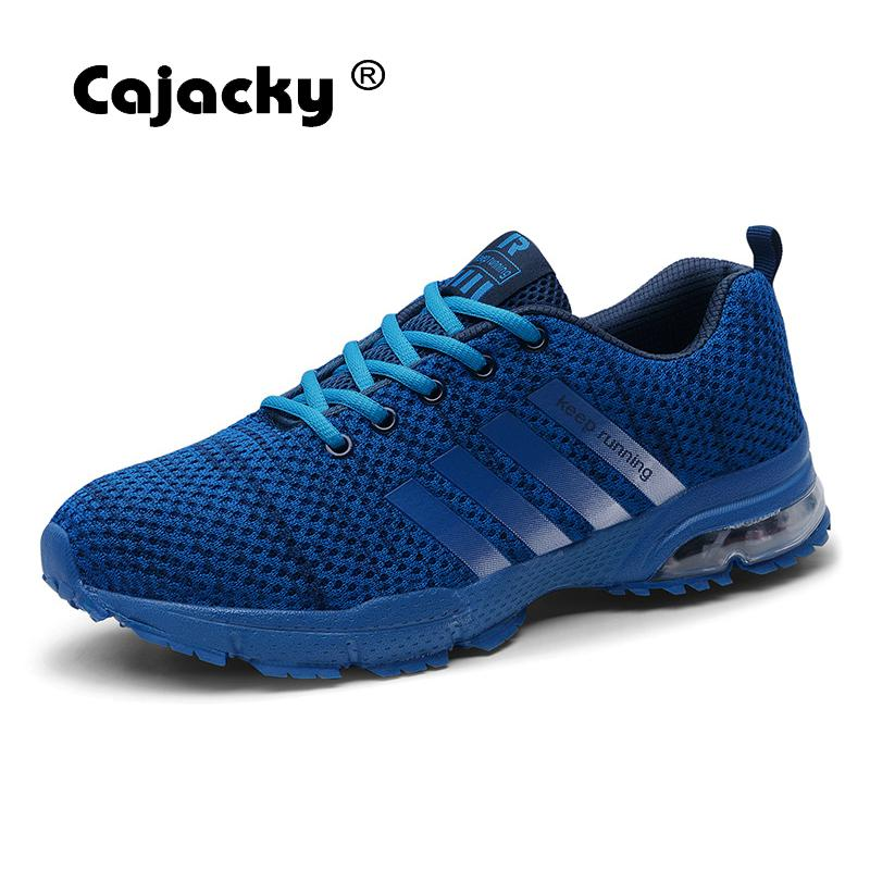 Cajacky Summer Men Shoes Blue Fashion Casual Shoes Plus Size 47 46 Breathable Sneakers Unisex Lightweight Trainers Men Krasovki cajacky unisex sneakers 2018 mesh casual shoes men mesh lace up male fly weave krasovki men fashion light breathable trainers