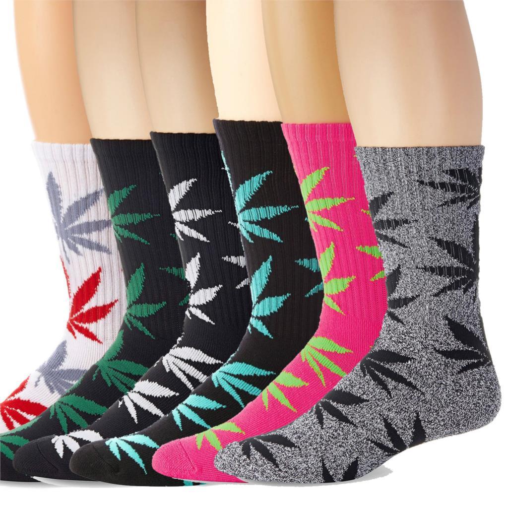 Thick Terry Maple leaf   Socks   Skateboard Weed Crew Man Women Unisex Hemp Long High Black Creative Fashion Autumn Winter   Socks