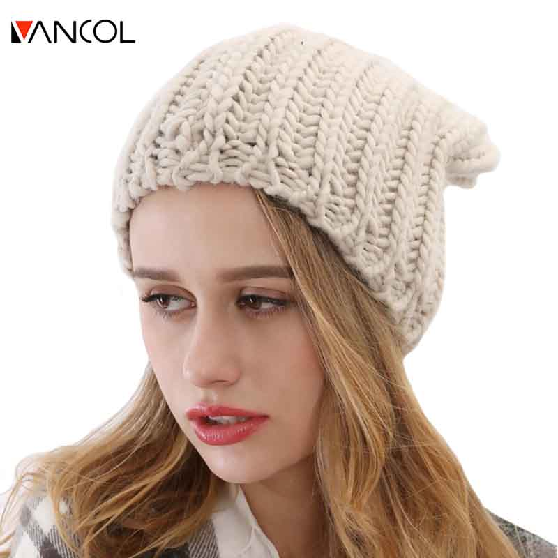 bf6762e3 2015 Fashion Unisex Mens Plain Toucas Winter Hats for Women Gorro Thick Warm  Skullies Chapeau Gray Wool Knitted Ribbed Beanie-in Skullies & Beanies from  ...