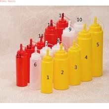 High quality squeez bottle jam seasoning jugs sauces tomato salad milk Condiment Dispenser for Sauce Vinegar Oil Ketchup Cruet