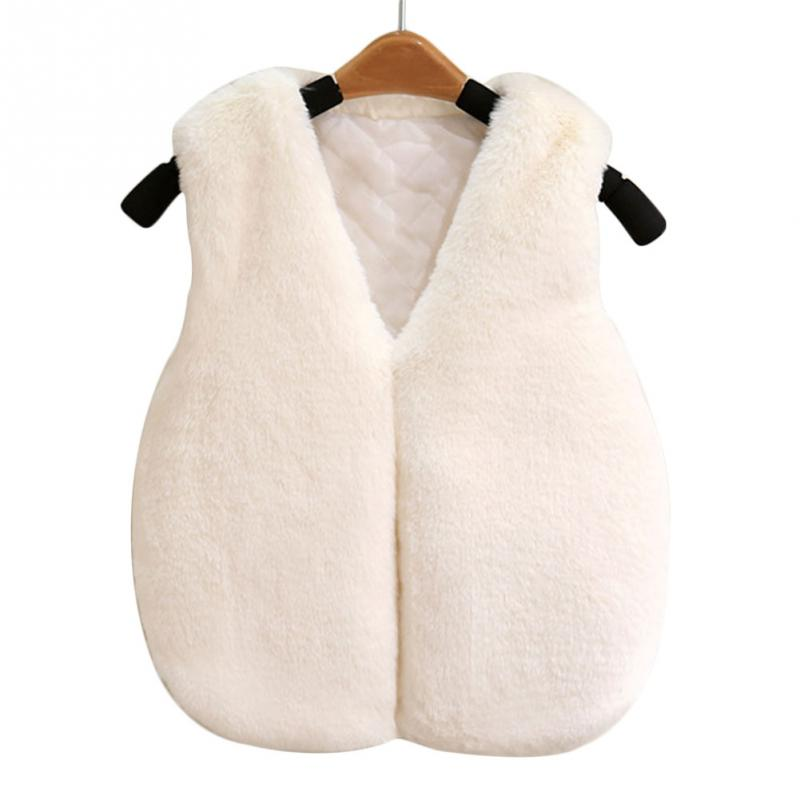 Vests & Waistcoats Girls Faux Fur Vests Baby Girls Christmas Kids Vests Waistcoats Vest Girl Knit Outerwear Sleeveless Top Baby Girl Winter Clothes Jackets & Coats