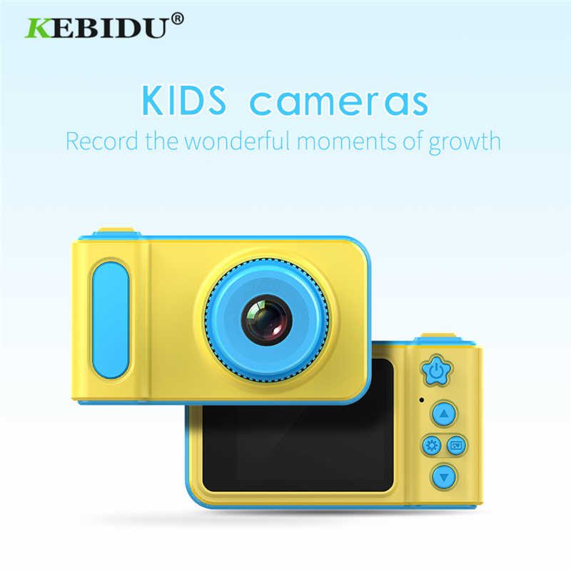 Kebidu Mini Digital Camera 2 Inch Cartoon Cute Camera Toys Children Birthday Gift 1080P Toddler Toys camera