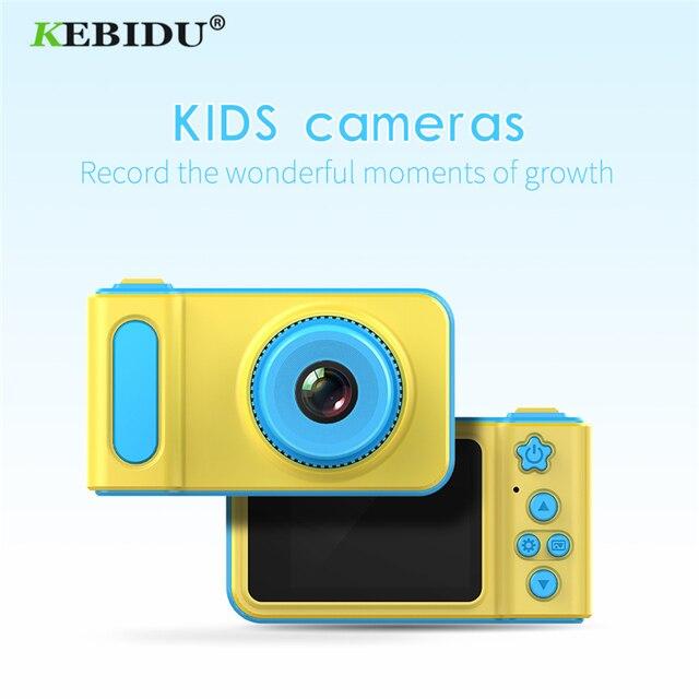 Kebidu Máy Ảnh Mini 2 Inch Họa Tiết Hoạt Hình Dễ Thương Camera Đồ Chơi Trẻ Em Quà Tặng Sinh Nhật 1080 P Đồ Chơi Tập Đi camera