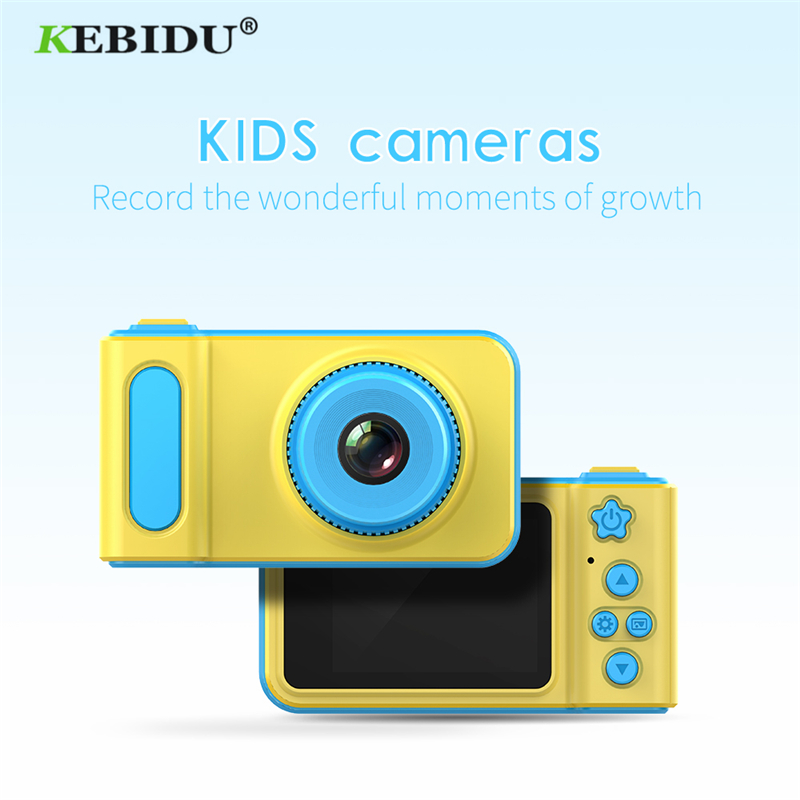 Kebidu Mini Digital Camera 2 Inch Cartoon Cute Camera Toys Children Birthday Gift 1080P Toddler Toys Innrech Market.com