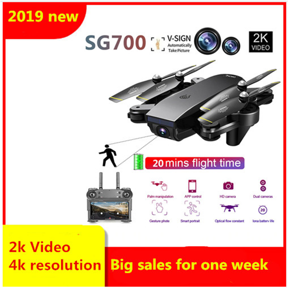 SG700 Upgraded Foldable RC Drones WIFI FPV 2K Dual Camera Drone Follow Mode APP Control Quadcopter For Gift Toy Drone 4KSG700 Upgraded Foldable RC Drones WIFI FPV 2K Dual Camera Drone Follow Mode APP Control Quadcopter For Gift Toy Drone 4K